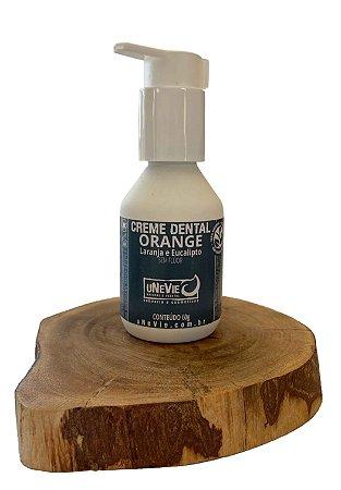 Creme Dental Natural Orange uNeVie   * pré-venda * no vidro sem flúor *