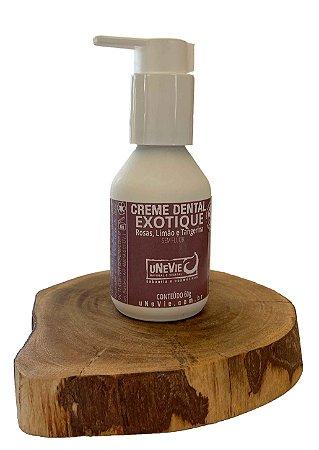 Creme Dental Natural Exotique uNeVie   * edição limitada  * no vidro sem flúor *