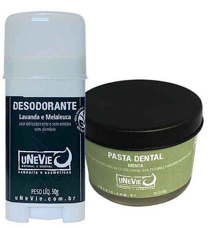 Kit Privé Menta uNeVie | desodorante e pasta dental natural