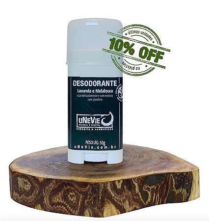 Desodorante Natural Lavanda e Melaleuca uNeVie    * últimas unidades na embalagem plástica *
