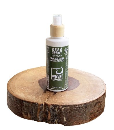 Desodorante Natural Spray Erva Baleeira, Lavanda e Melaleuca uNeVie  * vidro com 100ml *