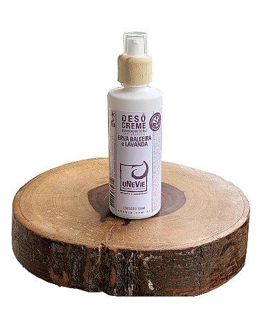 Desodorante Natural Creme Erva Baleeira e Lavanda uNeVie * vidro com 100g *