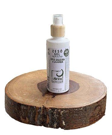 Desodorante Natural Gel Erva Baleeira e Lavanda uNeVie  * vidro com 100g *