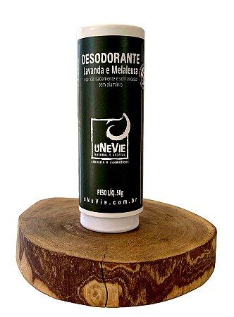Desodorante Natural Lavanda e Melaleuca uNeVie  * HIPOALERGÊNICO | CARTUCHO DE PAPEL PLASTIC FREE *