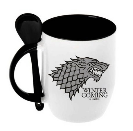 Caneca Game Of Thrones - House Stark (c/ colher)