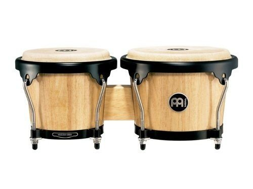 Meinl Wood Bongo Natural 6 3/4 & 8 Pele Couro HB100NT
