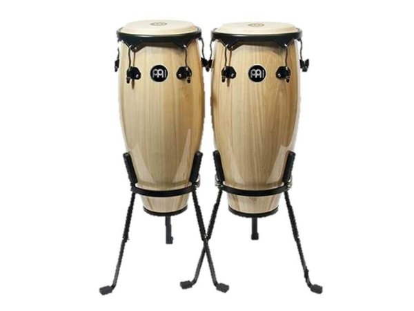Meinl Par De Congas 10 11 Mc52nt Natural Basket Stand Mc50nt