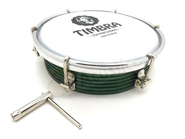 Timbra Tamborim 6 Aluminio Cinza Pele Leitosa + Baqueta 8660
