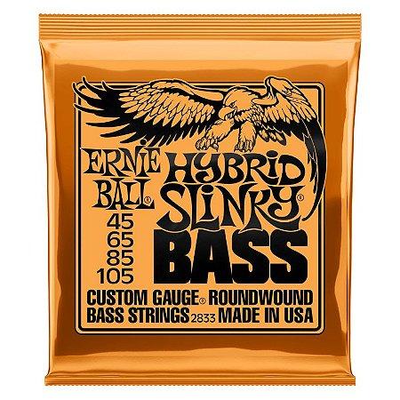 Ernie Ball Encordoamento Baixo 4 Cordas Hybrid Slinky 12888