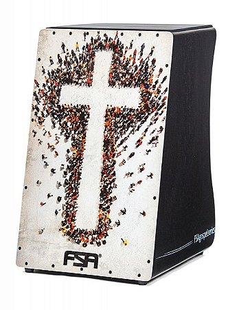 FSA Cajon Gospel FG1506 CRUZ Captação Dupla Esteira 24 fios