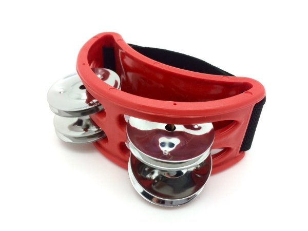 Torelli Pandeirola de Pé Vermelha TP303VM Foot Tambourine