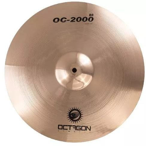 Octagon Medium Crash 16 Polegadas - OC 2000 OC16MC Prato Para Bateria