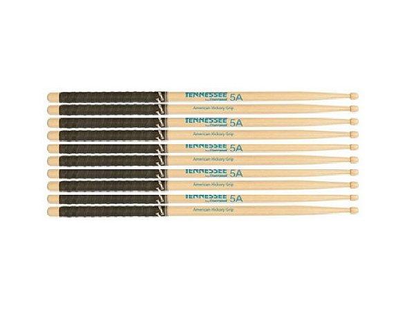 Tennessee Kit 5 Baquetas Special Grip Hickory 5A Tnhy5Amg 1º Linha Promoção
