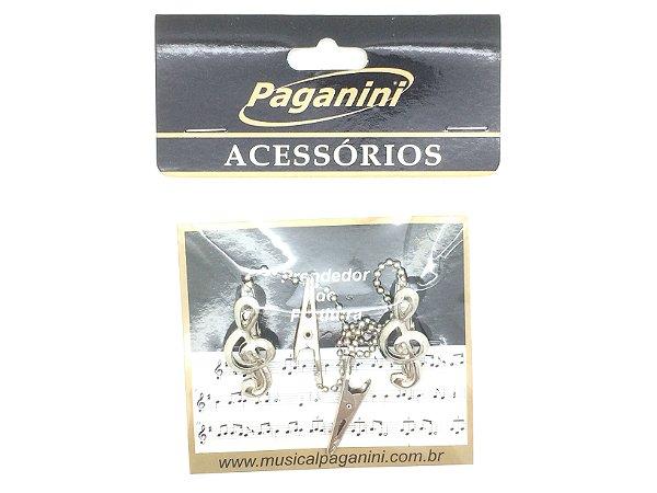 Paganini Prendedor Partitura Hinário Clave de Sol PPT080