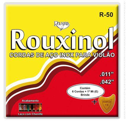 Rouxinol Encordoamento Violão Aço Chenille R-50