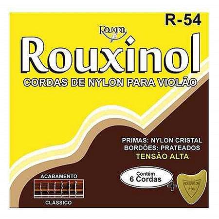 Rouxinol Encordoamento Violão Nylon Tensão Alta R-54