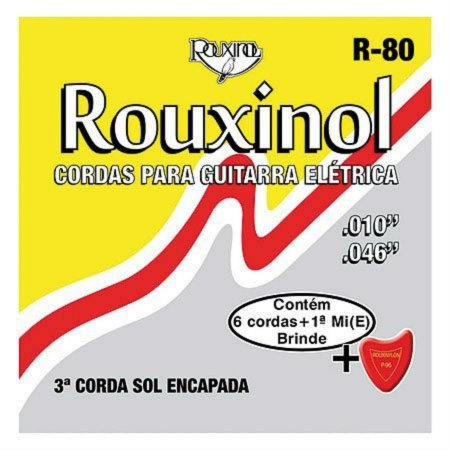 Rouxinol Encordoamento Guitarra 010 R-80
