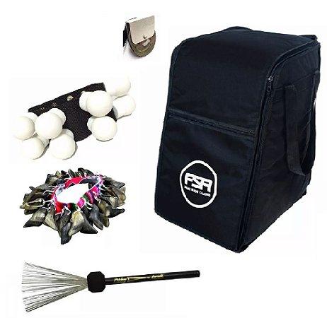 Kit Bag Fsa + Aço + Canela + Unha E Chimbal Fbs01