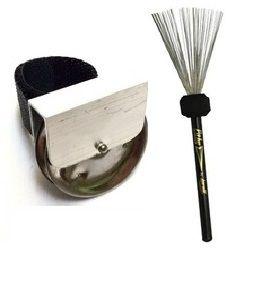 Chimbal De Dedo + Vassoura Aço Torelli Loutva062