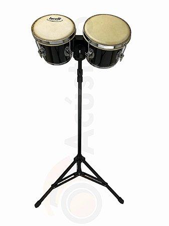 Kit Torelli Bongo Preto TB010PR Com Pedestal HPB01