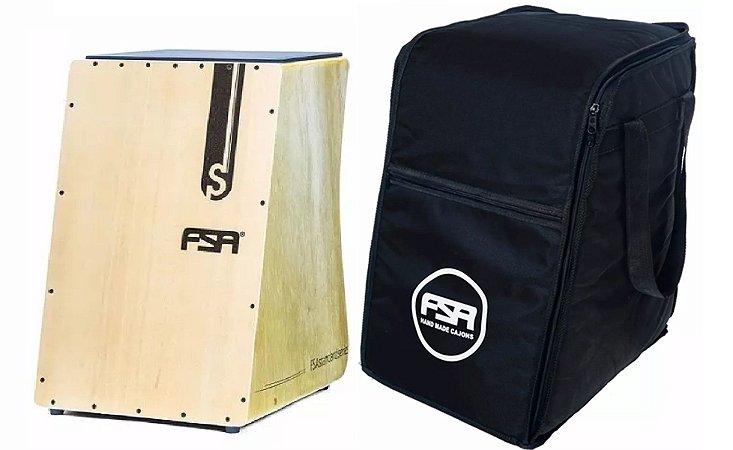 Fsa Cajon Standard FS2509 Natural Captação Dupla Esteira + Bag FSA
