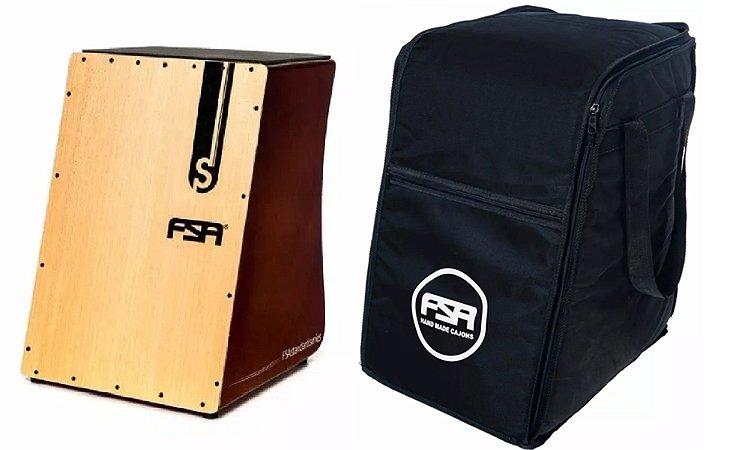 Kit Fsa Cajón Standard Mogno Captação Dupla FS2503 Inclinado + Bag