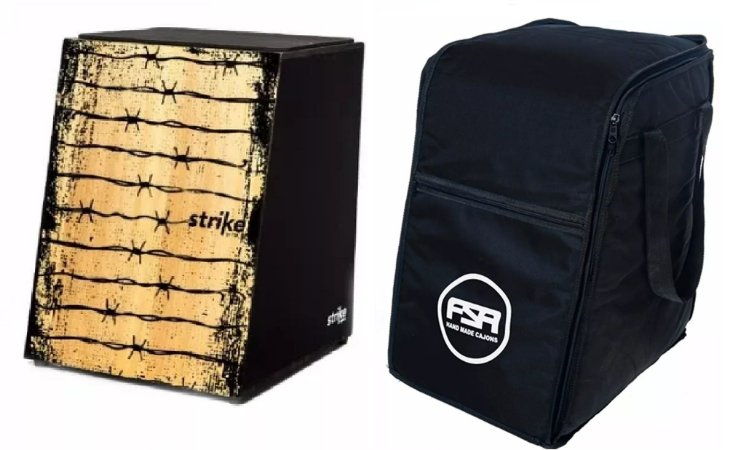Kit Fsa Cajon Strike Arame Com 1 Captação SK5009 + Bag