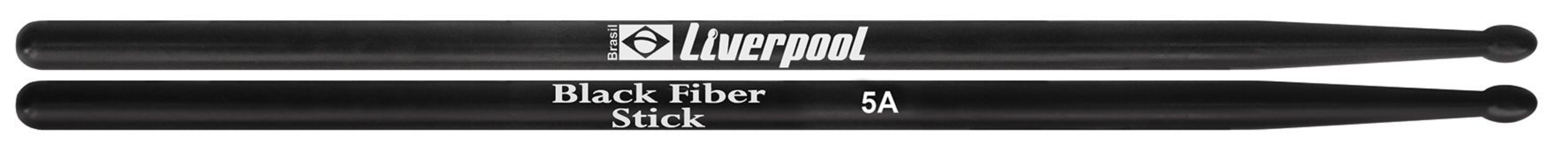 Liverpool Baquetas Black Fiber Stick 5A BFS5AM