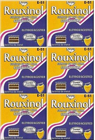Rouxinol Kit Com 6 Encordoamento Cavaquinho Com Bolinha E-51