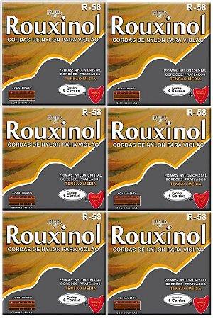 Rouxinol Kit C/ 6 Encordoamento Violão Nylon C/ Bolinha R-58