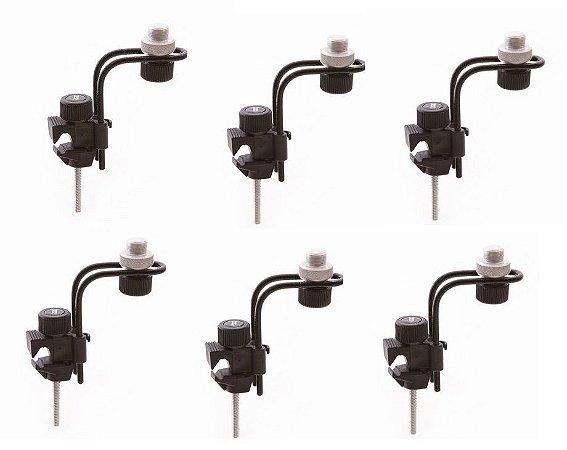 Ask Kit Com 6 Clamp Para Microfone Bateria E Percussão B10