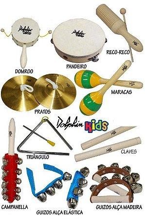 Dolphin Bandinha C/10 Instrumentos Infantil C/ Bolsa 8458