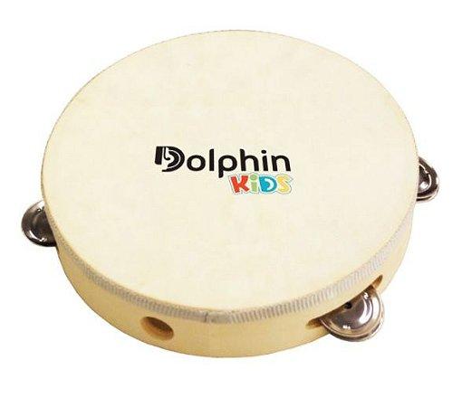 Dolphin Pandeiro Infantil 6 Pol Madeira c/ Pele Animal 8460