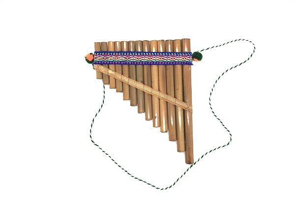 Flauta Pan Hecha Samponã Feita A Mão Peruana Indígena Inca