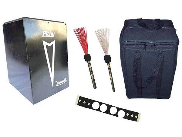 Cajon Pithy Inclinado e Captado TP108 Bag Kit Percussão 3 Itens
