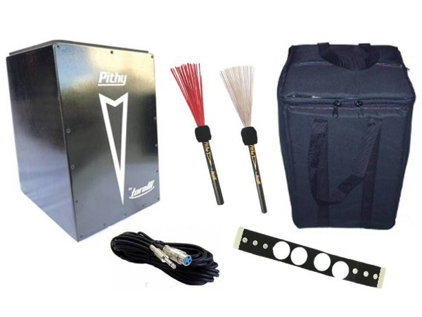Cajon Pithy Inclinado Captado TP108 Bag Cabo Kit Percussão