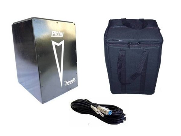 Kit Cajon Pithy By Torelli Captação TP108 Com Bag e Cabo Xlr