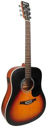 Tagima Violão Folk Eletro Acústico Woodstock Series Tw-25sb