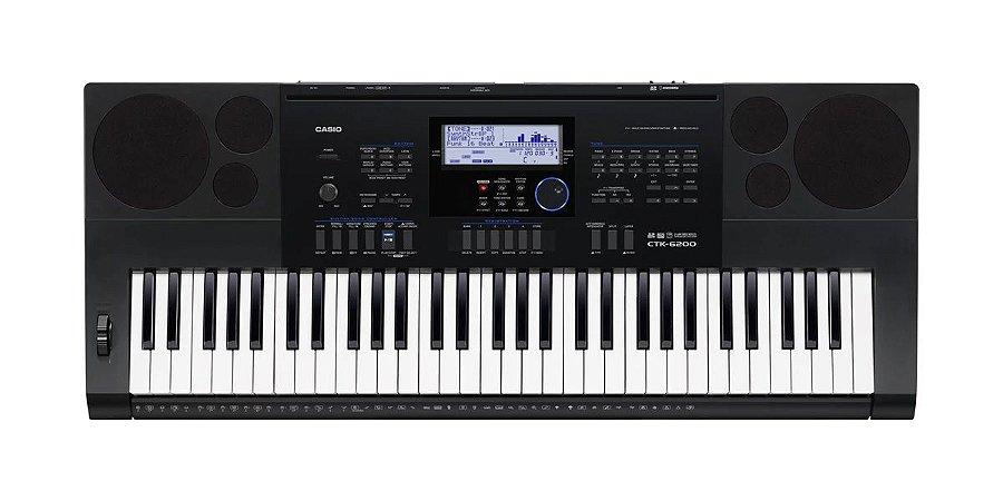 Casio Teclado Digital Sequenciador CTK6200 61 Teclas