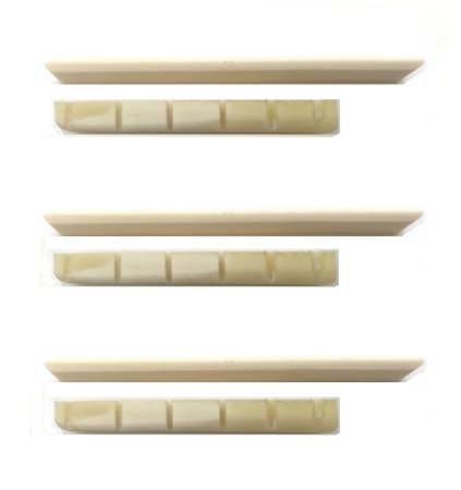 Juk Kit 3 Rastilho e 3 Pestana 100% Osso Moldado Para Violão