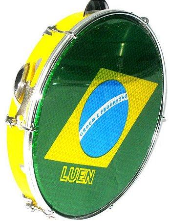 """Luen Pandeiro Amarelo Bandeira ABS 10"""""""