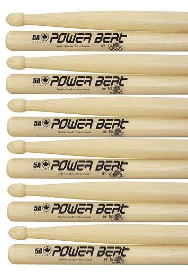 Los Cabos Power Beat Kit 6 Pares De Baquetas 5a Hickory