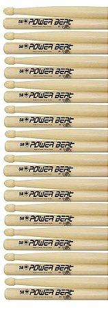 Los Cabos Power Beat Kit 12 Pares De Baquetas 5a Hickory
