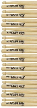 Los Cabos Power Beat Kit 12 Pares De Baquetas 5b Hickory