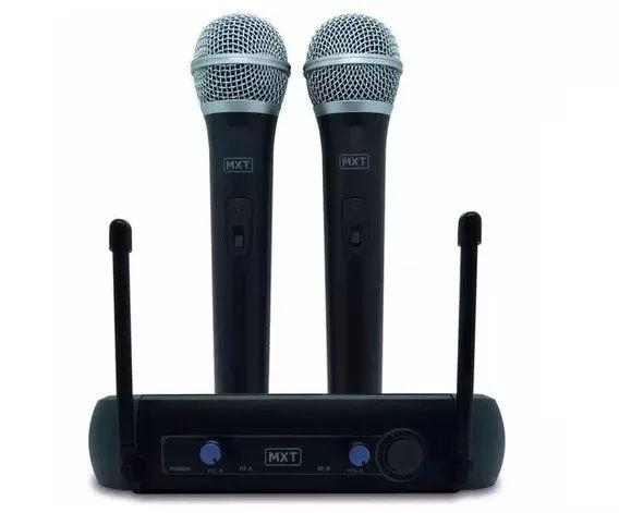 MX Microfone Duplo Sem Fio UHF-202 686.1MHZ/690.3MHZ  541117