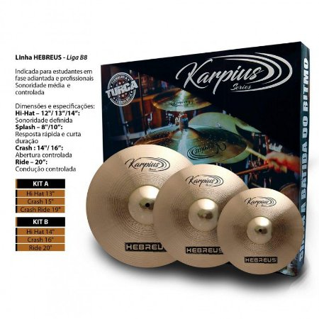 Karpius Hebreus Kit Pratos B8 14 16 20 29252
