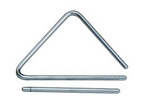 Torelli Triângulo 15 Cm Cromado Tl602 De Aço Percussão Forró