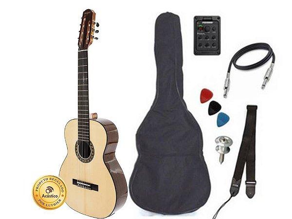 Rozini Violão 7 Cordas Bag Correia Palheta Cabo RX720.AT.N.LP