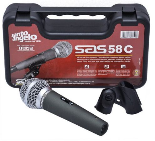 Santo Angelo Microfone Cardioide Com Chave Sas 58c