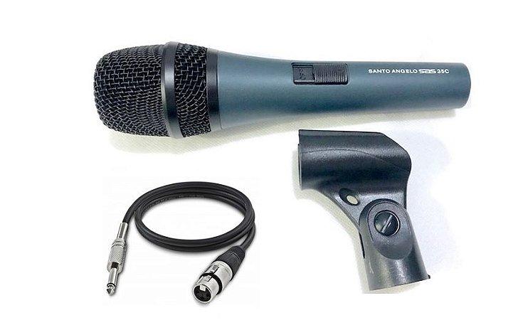 Santo Angelo Microfone Cardioide SAS 35C  Tipo Dinamico + Cabo